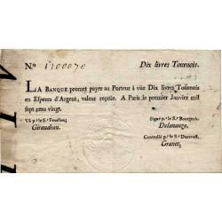 Law-Doreau 21 - 10 livres tournois - 1er janvier 1720 - Etat : TTB