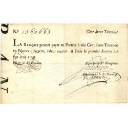 Law-Doreau 26 - 100 livres tournois - 1er janvier 1720 - Etat : TTB