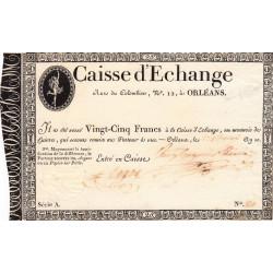 Orléans - Caisse d'échange - Pick S 231 - 25 francs - 1802 - Etat : TTB+