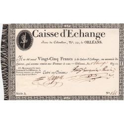 Orléans - Caisse d'échange - Pick S 231 - 25 francs - 1802 - Etat : SPL+