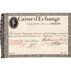 Orléans - Caisse d'échange - Pick S 232 - 50 francs - 1802 - Etat : SUP
