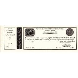 Rouen - Caisse d'échange - Pick S 241 - 400 sols - 1798 - Etat : NEUF