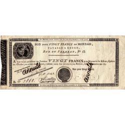 Rouen - Caisse d'échange - Pick S 245b - 20 francs - 1803 - Etat : TB à TB+