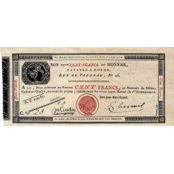 Rouen - Caisse d'échange - Pick S 246a - 100 francs - 1803 - Etat : SPL