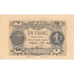 Paris - Société Générale - Jer 75.02A - 1 franc - 18/11/1871 - Etat : TTB+