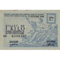 1 kg acier ordinaire - 31-12-1948 - Non endossé - Etat : TTB+
