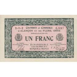 Alençon / Flers (Orne) - Pirot 6-22 - 1 franc - 1915 - Etat : SPL