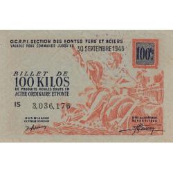 100 kg produits moulés acier ordinaire et fonte - 30-09-1948 - Endossé - Etat : SUP