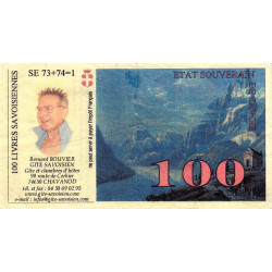 Billet savoisien - 100 Livres savoisiennes - Billet publicitaire - 1998 - Etat : TB+