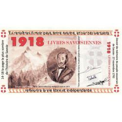 Billet savoisien - 1914 / 1918 Livres savoisiennes - 2014 - Etat : NEUF