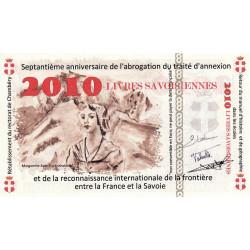 Billet savoisien - 2010 Livres savoisiennes - 2010 - Type a - Etat : NEUF