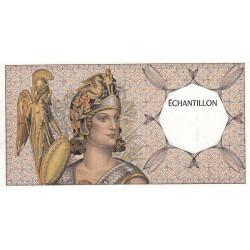 Athena à gauche - Format 50 francs QUENTIN DE LA TOUR - DIS-03-A-01 - Etat : SPL