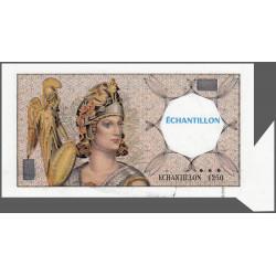 Athena à gauche - Format 100 francs DELACROIX - DIS-03-F-02 variété 1 - Etat : SUP+