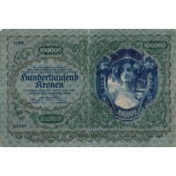 Autriche - Pick 81 - 100'000 kronen - 1922 - Etat : TB+