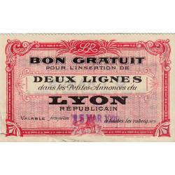 69 - Lyon - Journal Lyon Républicain - 8 francs - 15/03/1929 - Etat : TB-