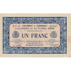Alençon / Flers (Orne) - Pirot 6-24 - 1 franc - 1915 - Etat : TTB+