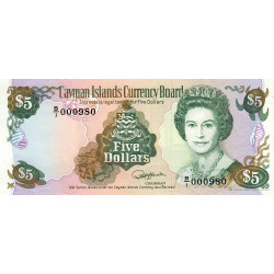Caimans (îles) - Pick 12 - 5 dollars - 1991 - Etat : NEUF