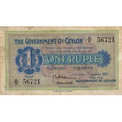 Ceylan - Pick 16b - 1 rupee - 01/09/1928 - Etat : TB+