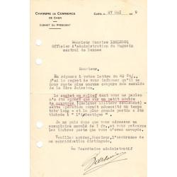 Caen / Honfleur - Pirot 34 - Lot 2 documents de 1919