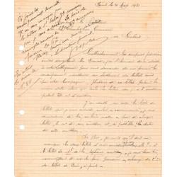 Calais - Pirot 36 - Document de 1921