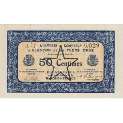 Alençon / Flers (Orne) - Pirot 6-29 - 50 centimes - Série A1 - 10/08/1915 - Etat : SUP