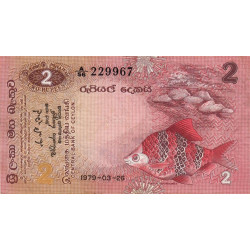 Sri-Lanka - Pick 83 - 2 rupees - 1979 - Etat : TTB