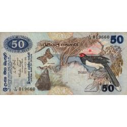 Sri-Lanka - Pick 87 - 50 rupees - 26/03/1979 - Etat : TB