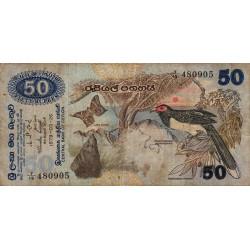Sri-Lanka - Pick 87 - 50 rupees - 26/03/1979 - Etat : B+