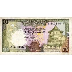 Sri-Lanka - Pick 92a - 10 rupees - 01/01/1982 - Etat : TTB
