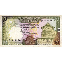 Sri-Lanka - Pick 92a - 10 rupees - 1982 - Etat : TTB