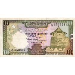 Sri-Lanka - Pick 92b - 10 rupees - 01/01/1985 - Etat : TTB