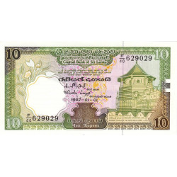 Sri-Lanka - Pick 96a - 10 rupees - 01/01/1987 - Etat : NEUF