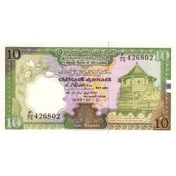 Sri-Lanka - Pick 96c - 10 rupees - 21/02/1989 - Etat : NEUF