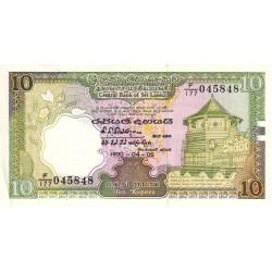 Sri-Lanka - Pick 96e - 10 rupees - 05/04/1990 - Etat : NEUF