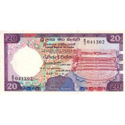 Sri-Lanka - Pick 97a - 20 rupees - 21/11/1988 - Etat : SUP