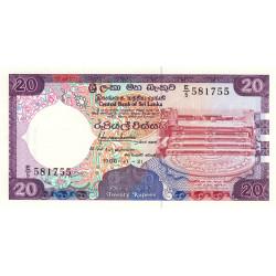 Sri-Lanka - Pick 97a - 20 rupees - 21/11/1988 - Etat : NEUF