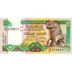 Sri-Lanka - Pick 102b - 10 rupees - 01/07/1992 - Etat : SPL