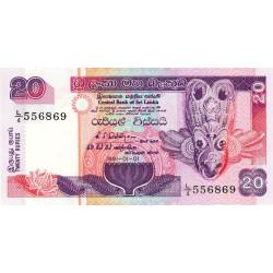 Sri-Lanka - Pick 103a_1 - 20 rupees - 01/01/1991 - Etat : NEUF