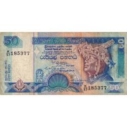Sri-Lanka - Pick 104c - 50 rupees - 19/08/1994 - Etat : TB