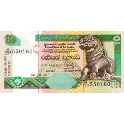 Sri-Lanka - Pick 108b - 10 rupees - 12/12/2001 - Etat : NEUF
