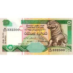 Sri-Lanka - Pick 108c - 10 rupees - 10/04/2004 - Etat : NEUF
