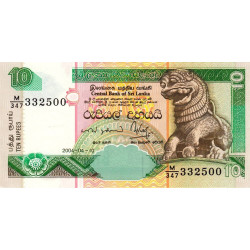 Sri-Lanka - Pick 108c - 10 rupees - 2004 - Etat : NEUF