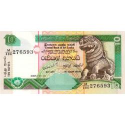 Sri-Lanka - Pick 108e - 10 rupees - 19/11/2005 - Etat : NEUF