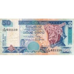Sri-Lanka - Pick 110b - 50 rupees - 2001 - Etat : TB