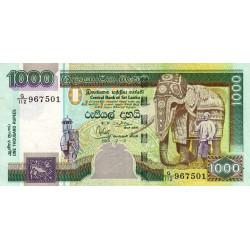 Sri-Lanka - Pick 120a - 1'000 rupees - 12/12/2001 - Etat : TTB+