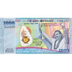 Sri-Lanka - Pick 122a - 1'000 rupees - 20/05/2009 - Commémoratif - Etat : NEUF