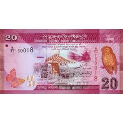Sri-Lanka - Pick 123a - 20 rupees - 01/01/2010 - Etat : NEUF
