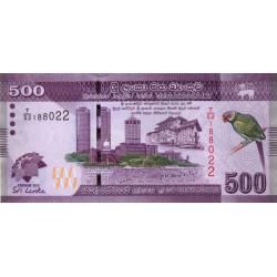 Sri-Lanka - Pick 129a - 500 rupees - 2010 - Commémoratif - Etat : NEUF