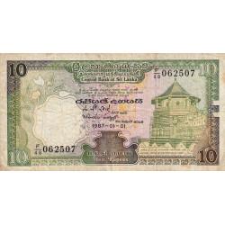 Sri-Lanka - Pick 96a - 10 rupees - 01/01/1987 - Etat : TB-