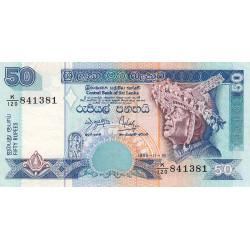 Sri-Lanka - Pick 110a - 50 rupees - 15/11/1995 - Etat : TTB+